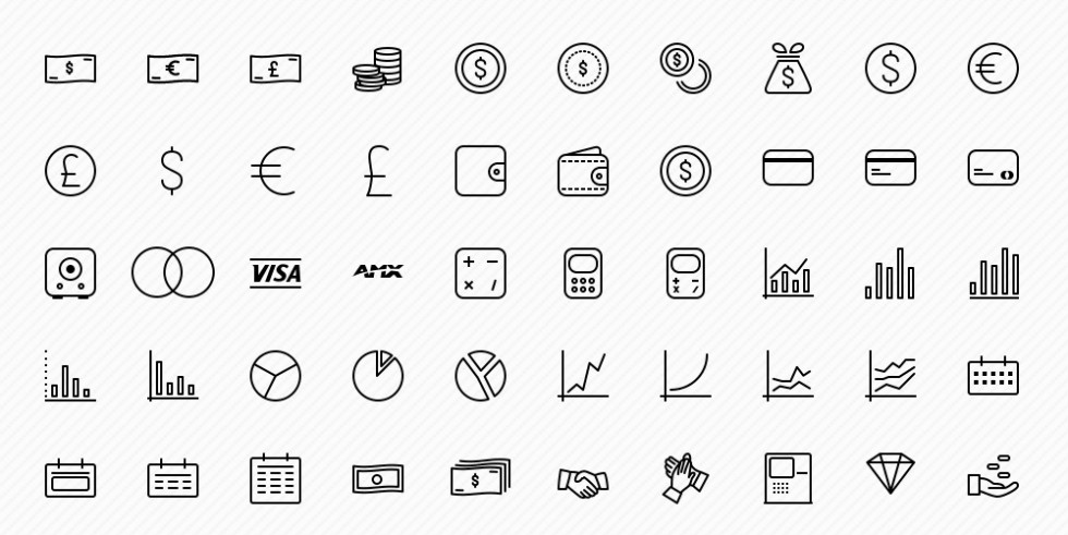 Free 50 Business Icons Set fro