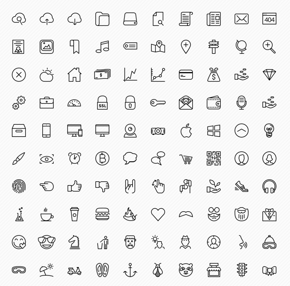Free Sketch icons pack
