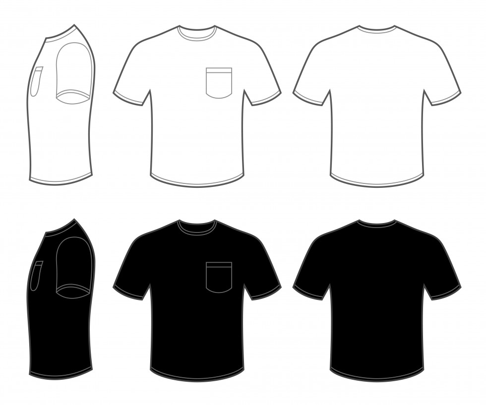 Design t shirt with front pocket - Mens T Shirt Templates