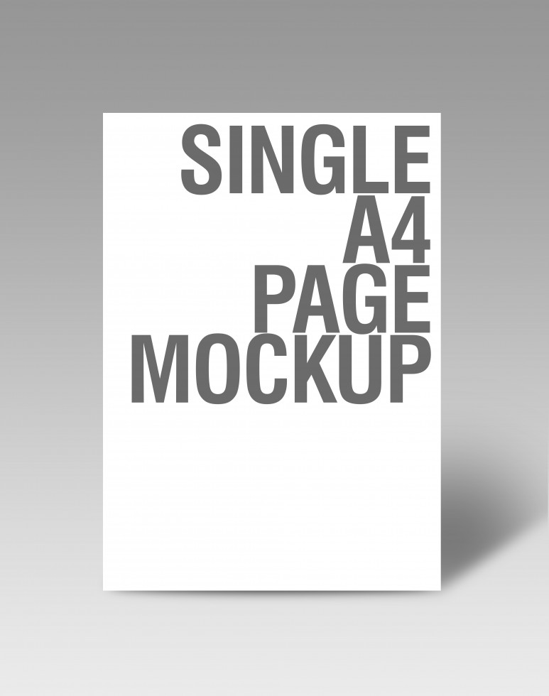 single page ad