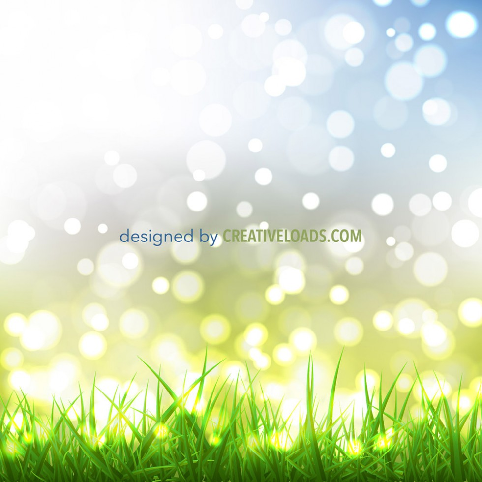 Spring Bokeh with Grass