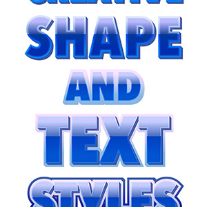 Blue Glossy Text Styles