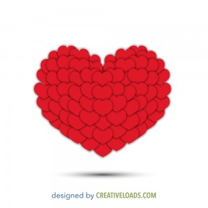Red Hearts Free Vector