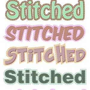 Stitched Text Styles